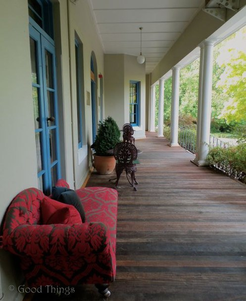 Chaise lounge on the verandah at Peppers Manor House - photo Liz Posmyk Good Things