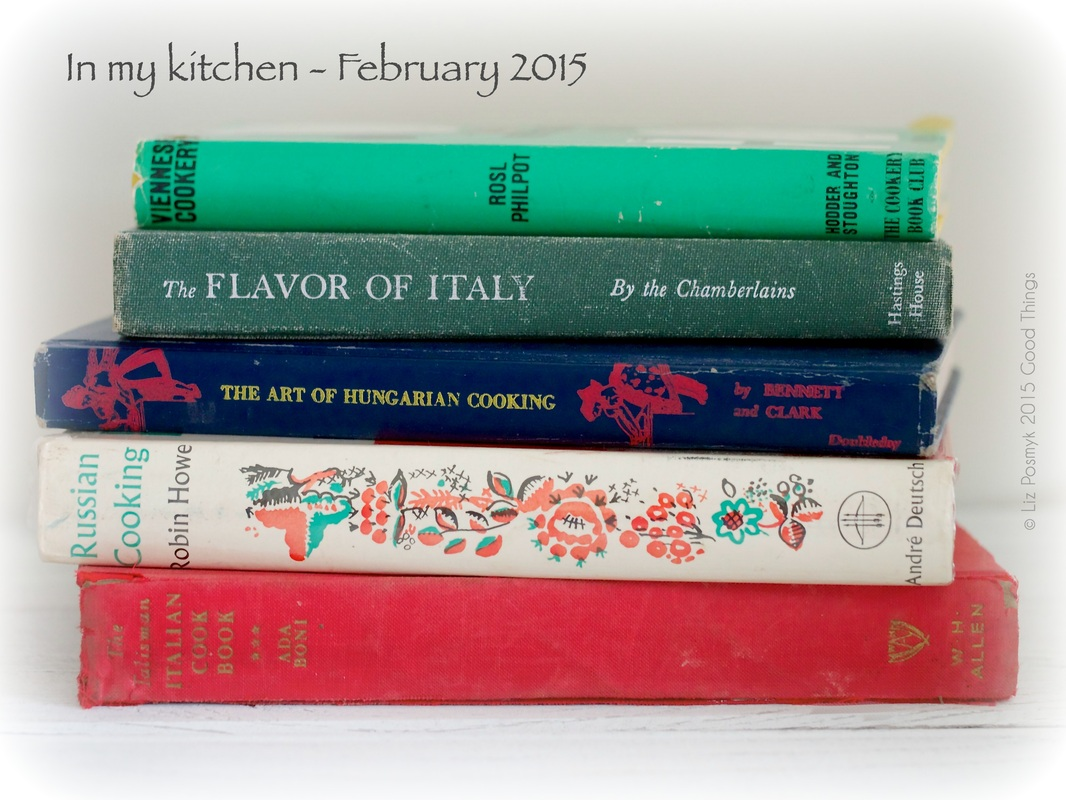 Just a few of my favourite old cookery books by Liz Posmyk, Good Things