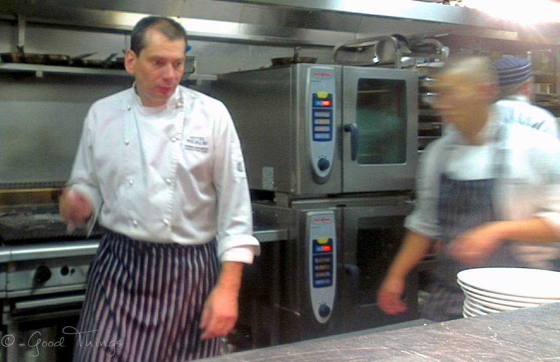 Fabian Wagnon, Executive Chef, Hotel Realm Canberra at work in the kitchen - photo by Liz Posmyk Good Things