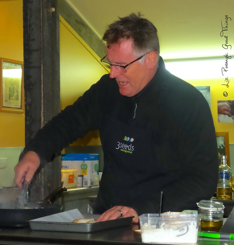 Chef Andrew Haskins of 3Seeds Cooking School in Canberra - photo Liz Posmyk Good Things