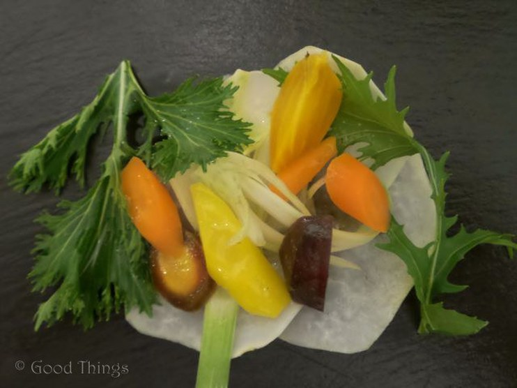 Steamed vegetables from Moon Acres Organic Farm in the NSW Southern Highlands - photo Liz Posmyk Good Things