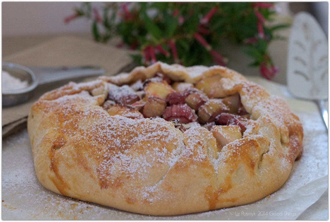 Rhubarb and apple galette - recipes for all seasons - bizzylizzysgoodthings.com