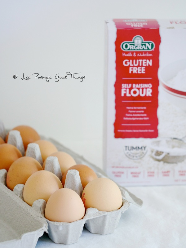 Free range eggs and gluten free flour