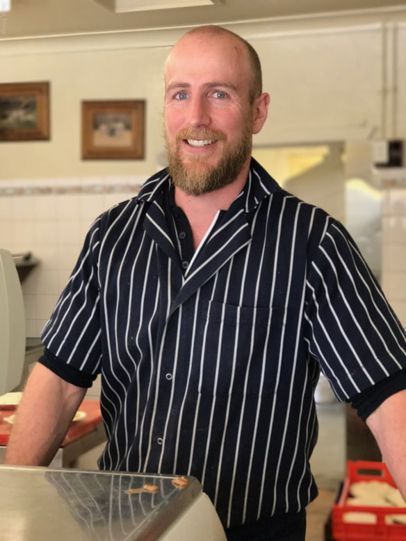 Matthew Mauger, traditional butcher, owner and manager of Maugers Meats in Burrawang - Liz Posmyk, Good Things