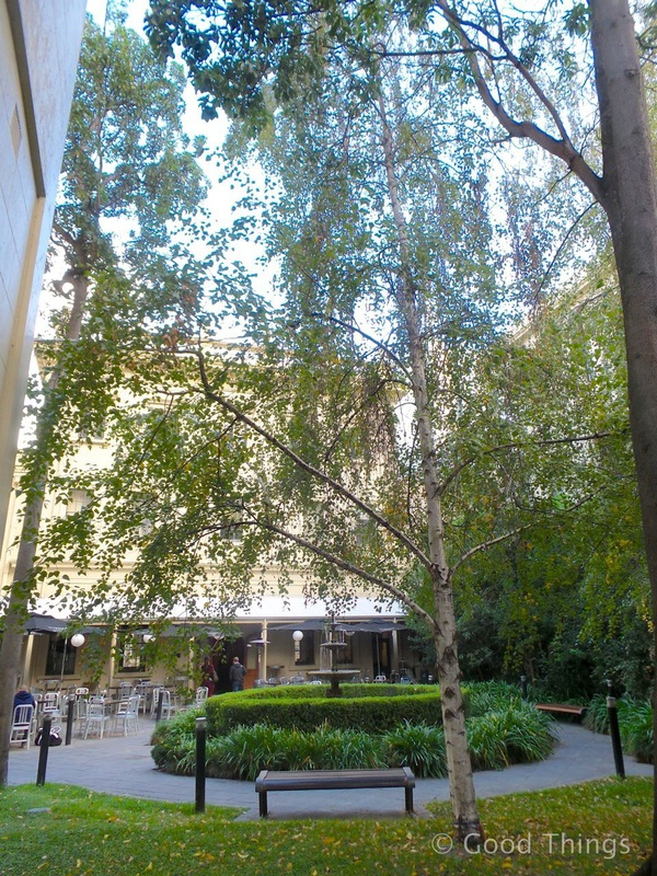 The leafy courtyard at the Adina Treasury in Adelaide - Liz Posmyk Good Things