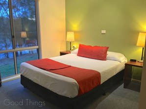 Second bedroom in the larger Deluxe cabins at Discovery Holiday Parks Gerroa - Liz Posmyk Good Things