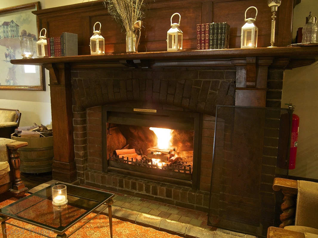 One of the warm fires at The Robertson Hotel