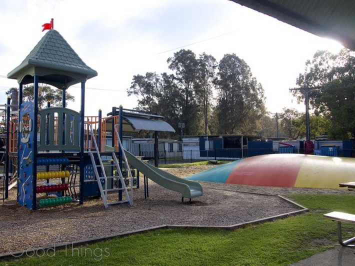 Playground and bouncing pillow at the Discovery Holiday Parks Gerroa - Liz Posmyk Good Things