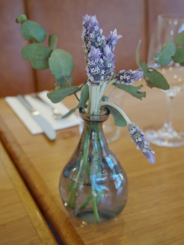 Lavender sprigs on the table at Poachers Pantry - Liz Posmyk Good Things
