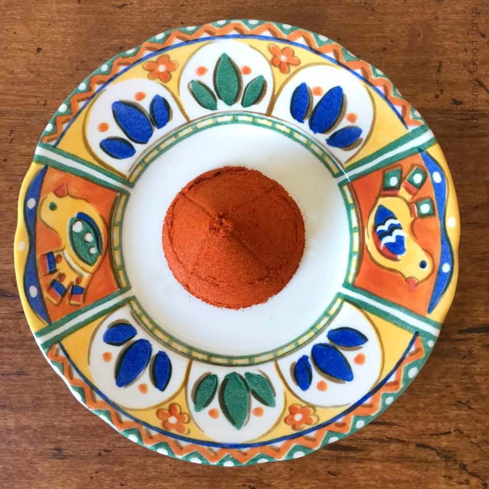 Noble Sweet Hungarian Paprika on a pretty plate - Liz Posmyk Good Things