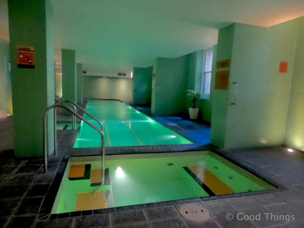 The pool and spa at the Adina Treasury in Adelaide - Liz Posmyk Good Things