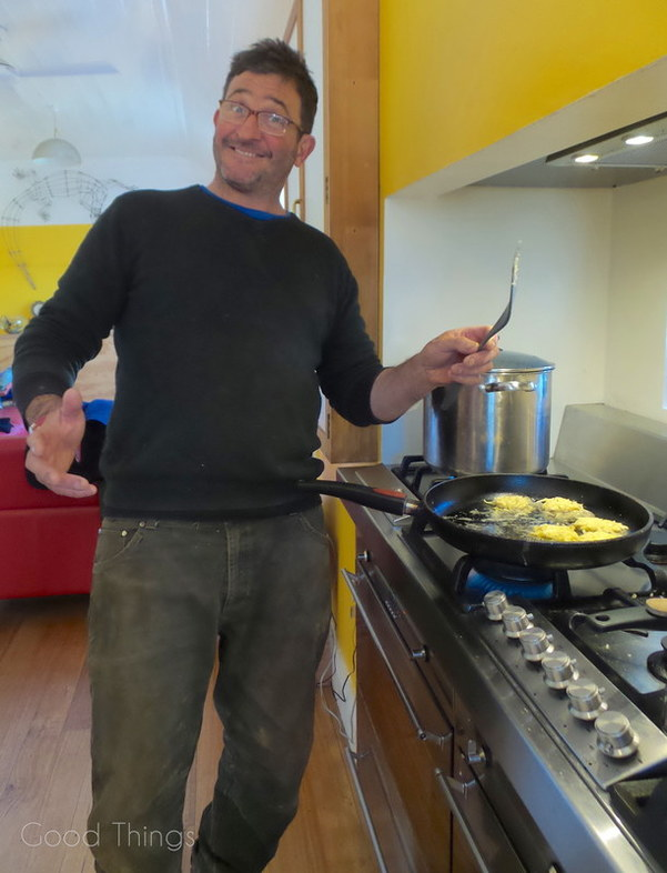 Damian Robinson making rosti at Turalla Truffles near Bungendore - photo Liz Posmyk Good Things