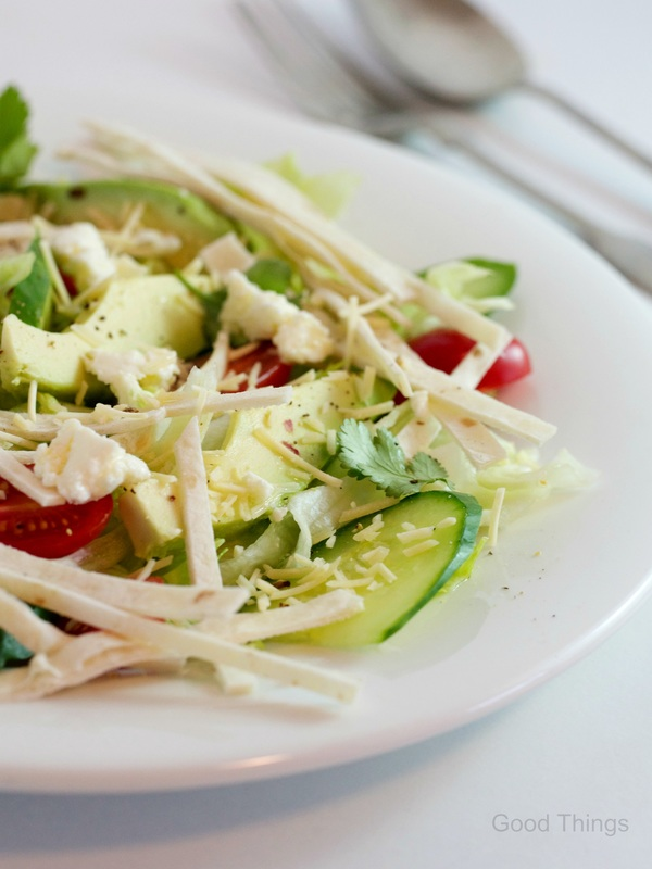 Tortilla and avocado Tex Mex salad - Liz Posmyk Good Things